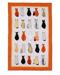 Ulster Weavers Cats in Waiting Tea Towel