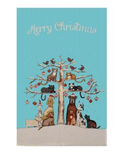 Ulster Weavers Christmas Cats & Dogs Tea Towel