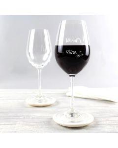 Christmas Naughty or Nice Wine Glass