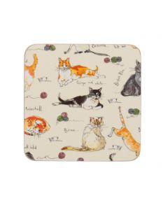 Ulster Weavers Madeleine Floyd Cats Coasters 4-Pack