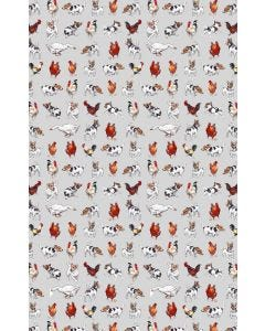 Farmyard Frolics Cotton Tea Towel