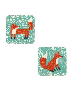 Ulster Weavers Foraging Fox Coasters