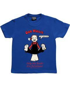 Oor Wullie Help Ma Boab Christmas Kids T-shirt