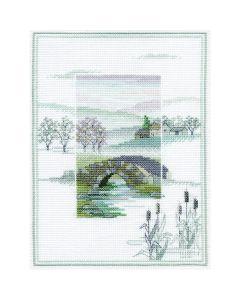 Winter Bridge Counted Cross-Stitch Kit