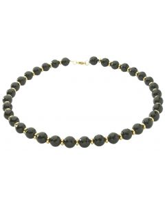 BNWT Womens Semi-Precious Midnight Facetted Black Onyx 45cm Necklace