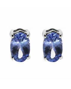 Tanzanite 925 Sterling Silver 6mm x 4mm Stud Earrings