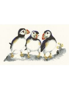 Puffins: Counted Cross Stitch