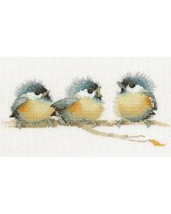 Trio of Chicks: Counted Cross Stitch