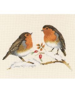 Chatty Robins: Counted Cross Stitch