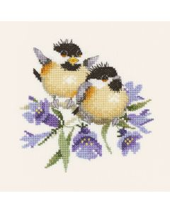 Bluebell Chicks: Counted Cross Stitch