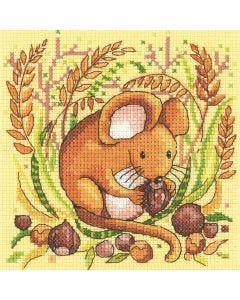 Woodland Creatures Dormouse: Counted Cross Stitch