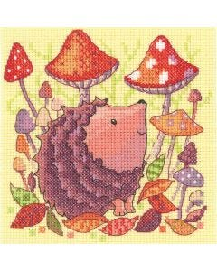 Woodland Creatures Hedgehog: Counted Cross Stitch