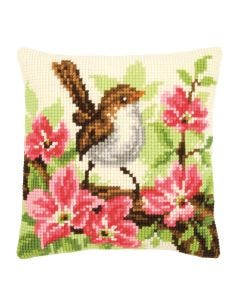 Jenny Wren Cross Stitch Cushion Kit