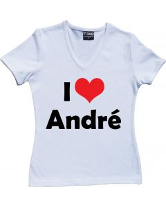 I Love André Rieu Ladies V-Neck T-shirt