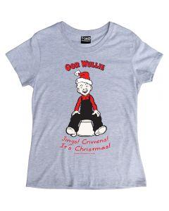 Oor Wullie Jings Christmas Ladies T-shirt
