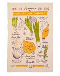 Seasalt Know Your Onions Tea Towel