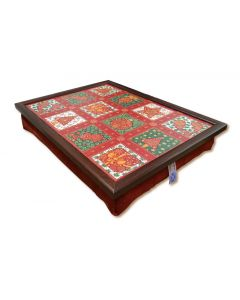 Mistletoe & Holly Lap Tray
