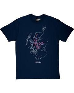 Munros and Corbetts Map Men's T-shirt