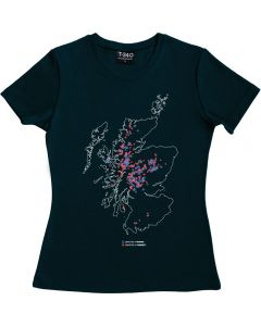 Munros and Corbetts Map Ladies T-shirt
