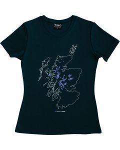 Munros Map Ladies T-shirt