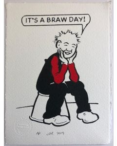 Oor Wullie It's a Braw Day Print