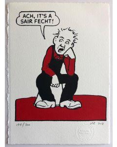 Oor Wullie Sair Fecht Print