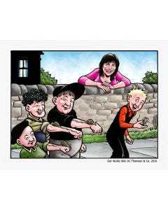 Oor Wullie & Snail Race - Personalised Print & Canvas Colour