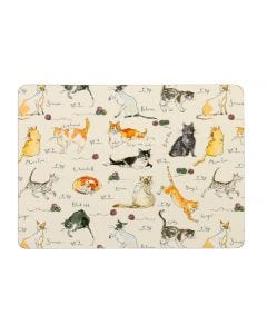 Ulster Weavers Madeleine Floyd Cats Placemats 4-Pack