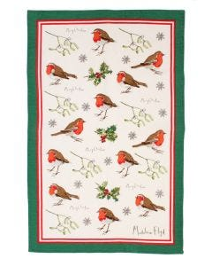 Madeleine Floyd Robins & Holly Tea Towel