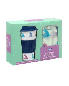 RSPCA Cats Travel Mug & Shopper Bag Gift Set