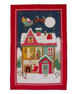 Ulster Weavers Santa's Workshop Tea Towel