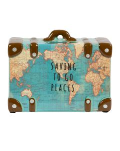 Saving To Go Places Vintage Map Money Pot
