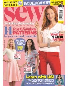 Sew Magazine Subscription - Navy Fabric