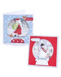 Bumper Snowglobe Shaker Card Kit