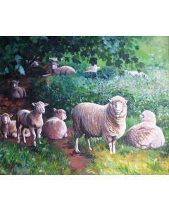 Sheep in the Shade Jigsaw