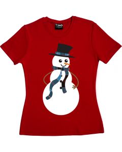 Snowman T-shirt Ladies