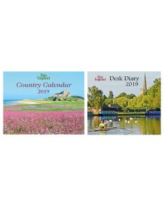 This England Country Calendar and Desk Diary 2019