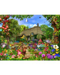 Thatched Cottage Garden Jigsaw