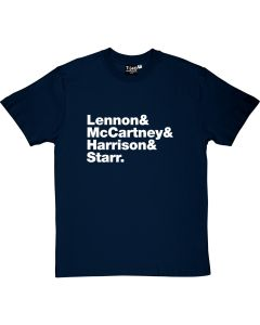 The Beatles Line-up T-shirt