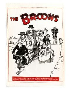 The Broons Tandem Tea Towel x 2