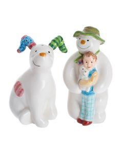 John Beswick - Snowman & Snowdog Salt & Pepper Set