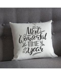 Most Wonderful Time Christmas Cushion