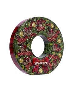 Walkers Christmas Wreath Tin