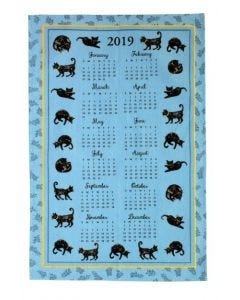 Ulster Weavers Cat Nap Cotton Tea Towel 2019 Calendar