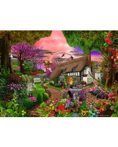 Cottage Garden Rainbow Jigsaw