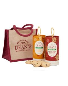 Dean's Christmas Gluten Free Jute Lunch Bag & Biscuits