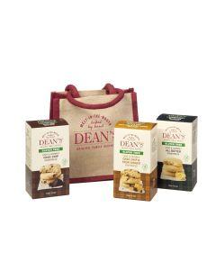 Dean's Gluten Free Jute Lunch Bag & Biscuits