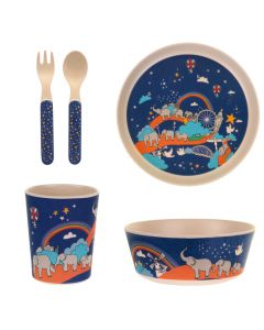 Ulster Weavers Elephant Parade Unforgettable Journey Child's Bamboo Dinner Set