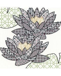 Craft Water Lily Blackwork Stitch Kit