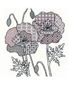 Craft Poppy Blackwork Stitch Kit